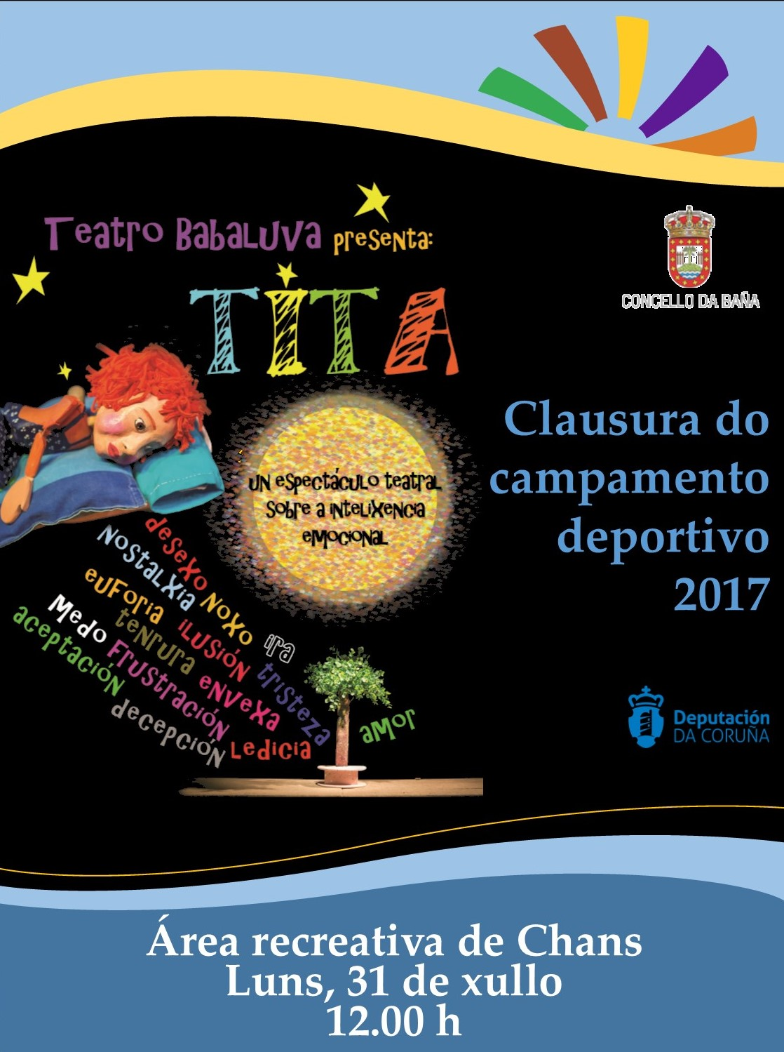 2017clausura do campamento deportivo